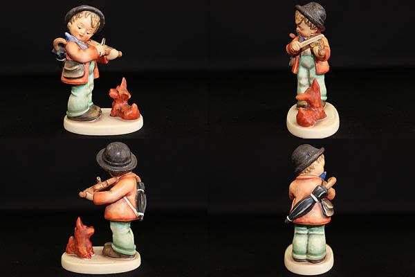 ゲーベルフンメル人形Puppy Love Violin Boy with Dog Fiddler (2)